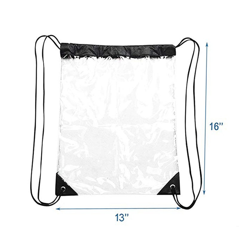 59a934530cb7 Crystal Clear Transparent Drawstring Backpack Waterproof Bag Simple ...