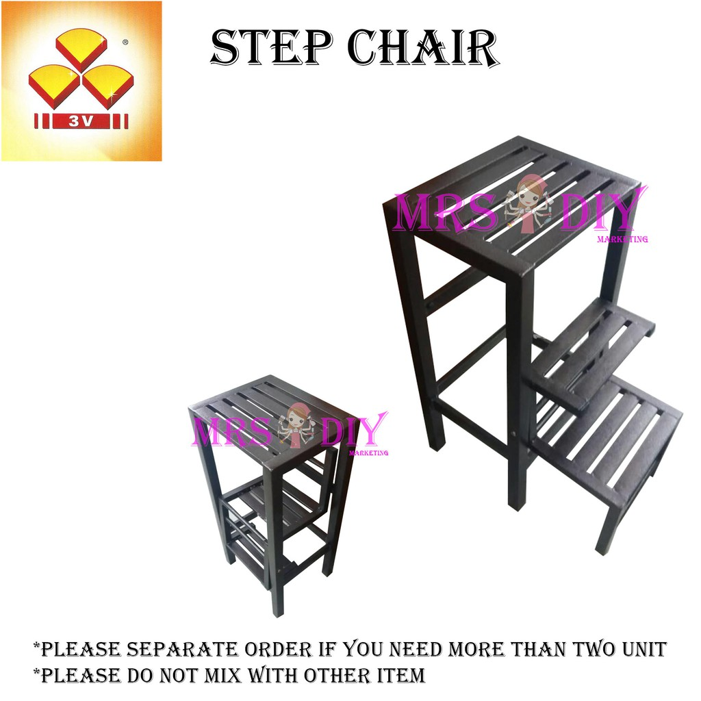 Mrs Diy 3v Mt 703 Steel Step Chair Foldable Step Stool Ladder Stool Kerusi Bertangga Pre 14 Shopee Malaysia
