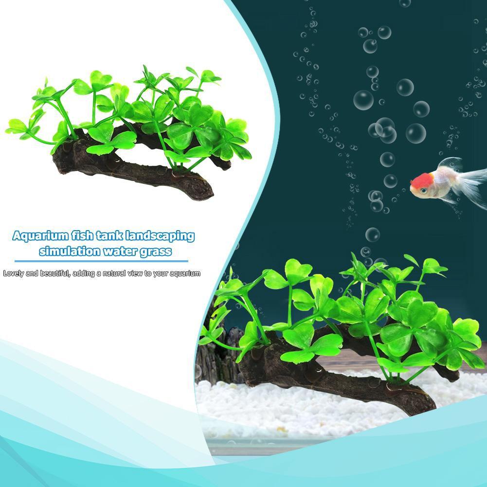 Artificial Water Plant Grass Decor Ornament For Fish Tank Aquarium