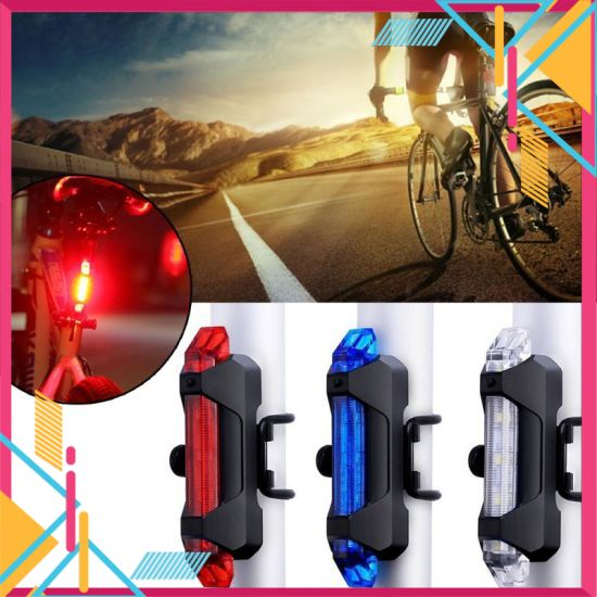(White Light) Bicycle Light Waterproof Rear LED Tail Light USB Rechargeable