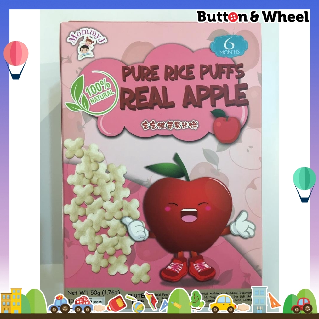 Mommyj Real Apple Pure Rice Puffs