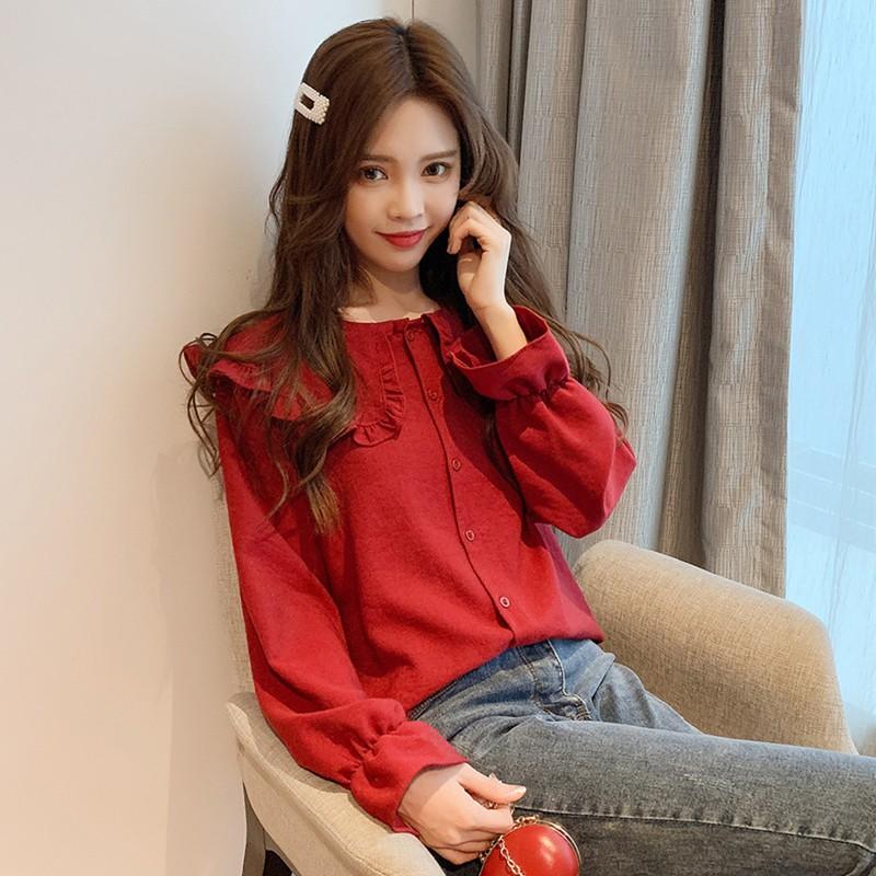 4e418406a8122a Xin Bang Long Sleeve Plaid Shirt Blouse | Shopee Malaysia