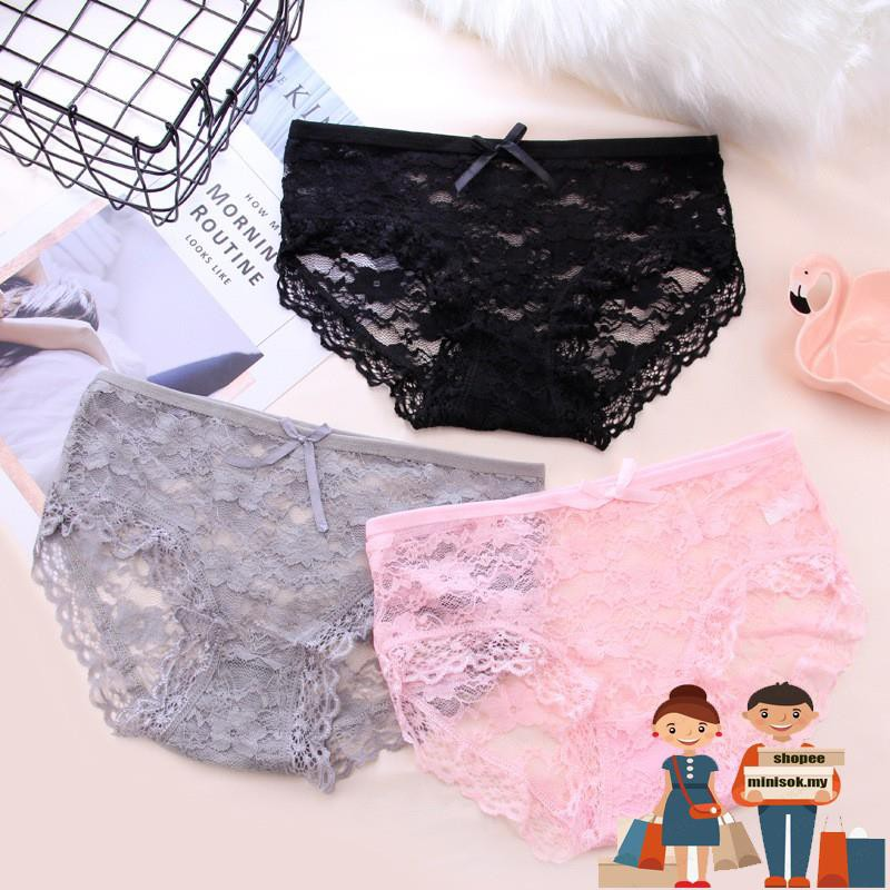 mini High Quality Comfortable Lace Embroidered Bow Bra + Underpants Set  3e0c64cea3