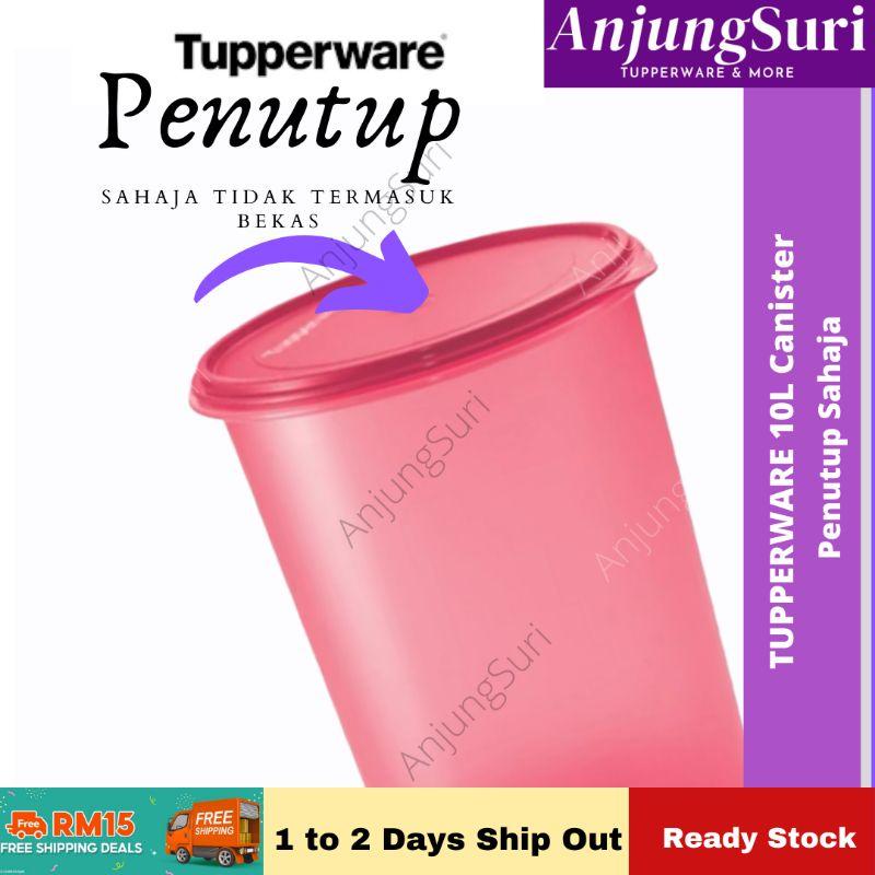 AnjungSuri Tupperware Tall Canister Seal Lid Cover - Penutup 10L Tupperware Tebal
