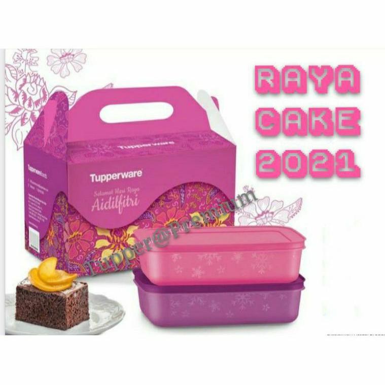 ❤️READY STOCK❤️Tupperware raya cake gift set 2021 1box come with box