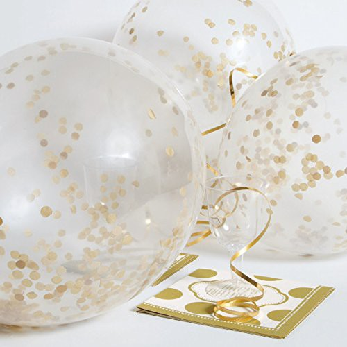 [Ready Stock] balloon with Gold Confetti