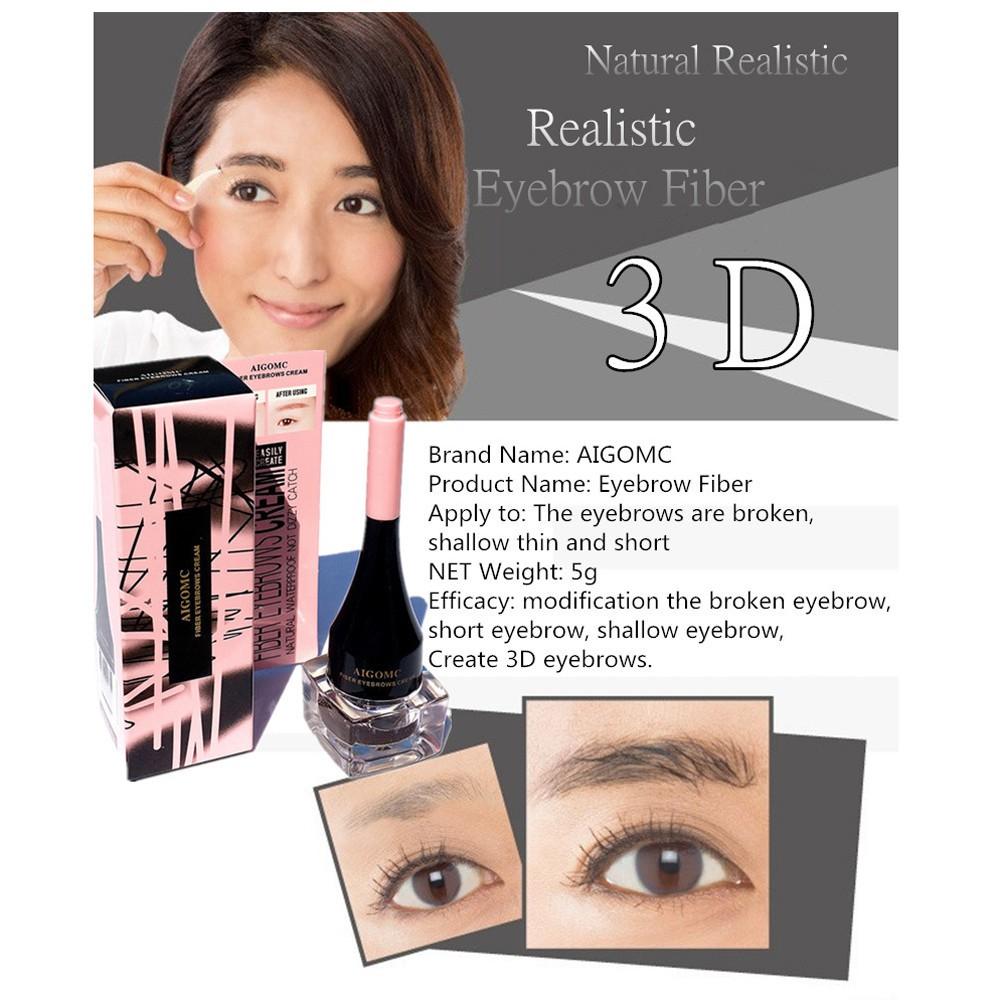 8994bf04c31 New Beautiful Waterproof 3D Extensions Gel Fiber Brow Hair and EyeBrow Brush