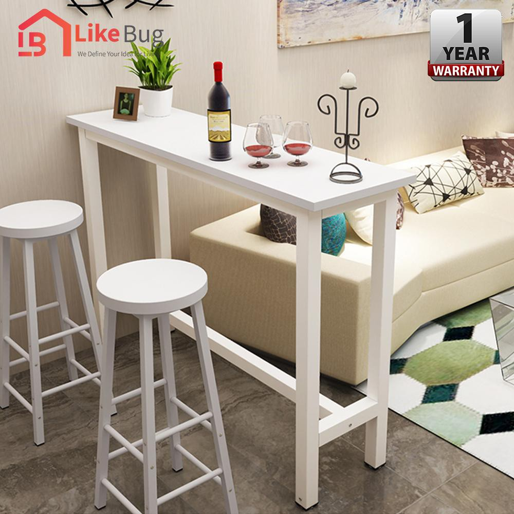 F F Ciel Living Room Tall Simple Desk 2 X Chair Coffee High Table Long Bar