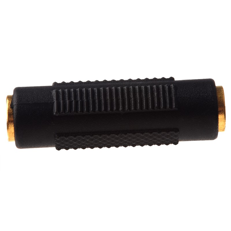 〔≈〕Gold Plated 3 5 mm Stereo Coupler Female to Female Jack