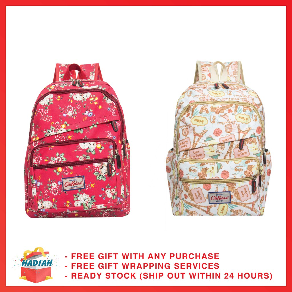 bba120d577582 [READY STOCK] Cath Kidston Waterproof Outdoor Backpack Casual Backpack