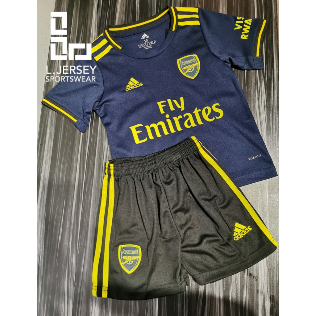 Arsenal Kid 3rd Kit Season 19/20 CLIMALITE Fans Jersey