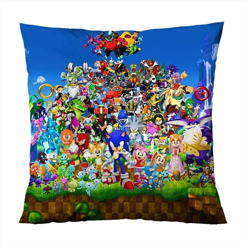 Nintendo Sonic And His Friend Home Decor Fun Pillow Cases Bedding Soft Pillow Case Shopee Malaysia