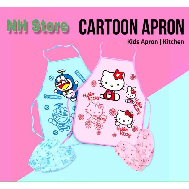 Hello Kitty / Doremon Cute Apron <NH