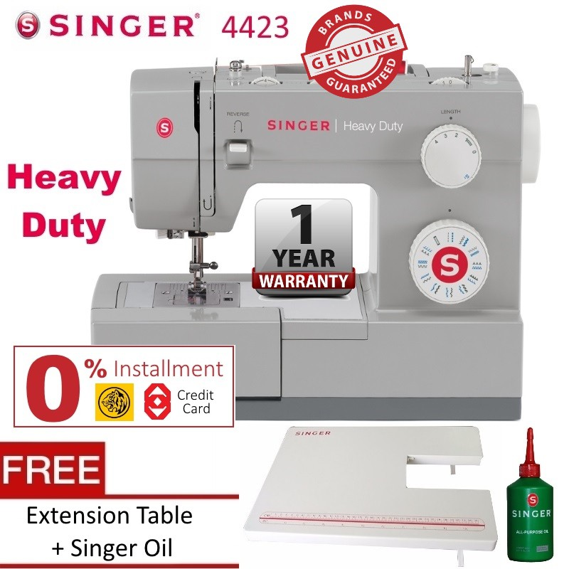 Singer 4423 Heavy Duty Sewing Machine Extension Table Shopee Malaysia