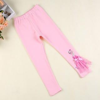 Girls Childrens Plain Full Length Cotton Legging Fancy Dress Party Trouser Pants