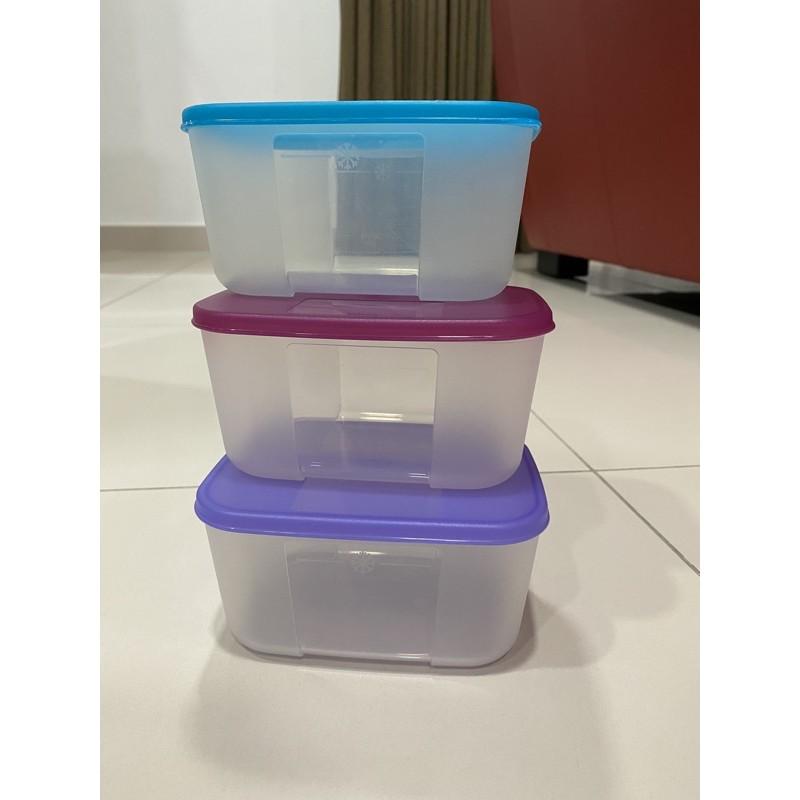 3x 650ml Freezermate Tupperware/ Bekas sayur/ Bekas Ayam/ Bekas Plastik/ Bekas Pelbagai Guna