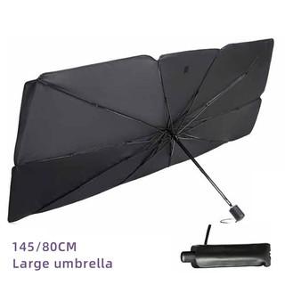Car Windshield Sun Shade Umbrella Large Foldable Car Umbrella Sunshade Cover UV Block Front Window for Auto Windshield Covers Trucks Cars Heat Insulation Protection