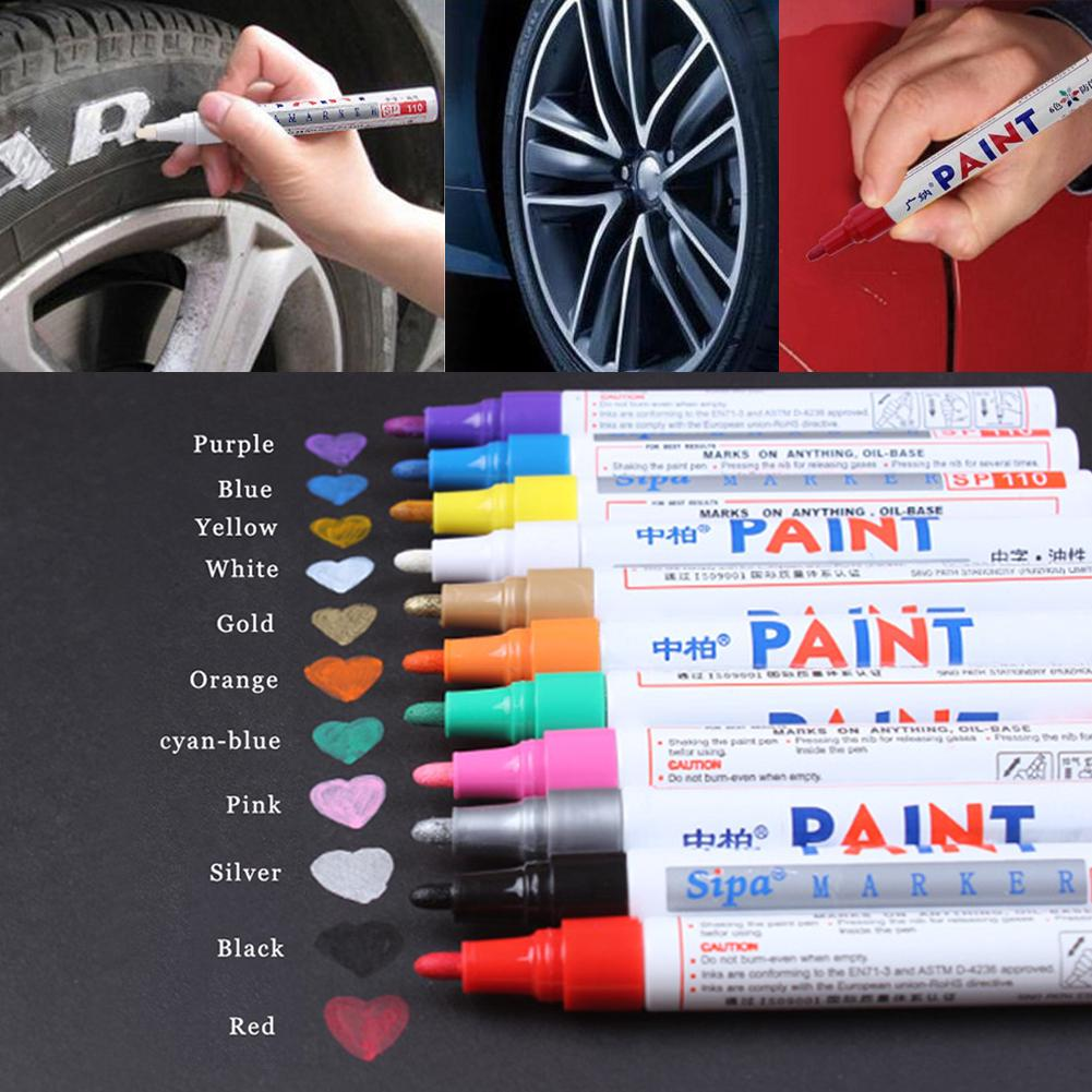White Permanent Paint Marker Pen Car Tyre Tread Metal Alloy Wheel For Jeep