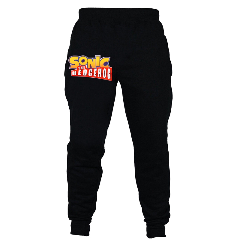 Sonic The Hedgehog Boy Pants Kids Black Long Pants Letters Printed Trousers Shopee Malaysia