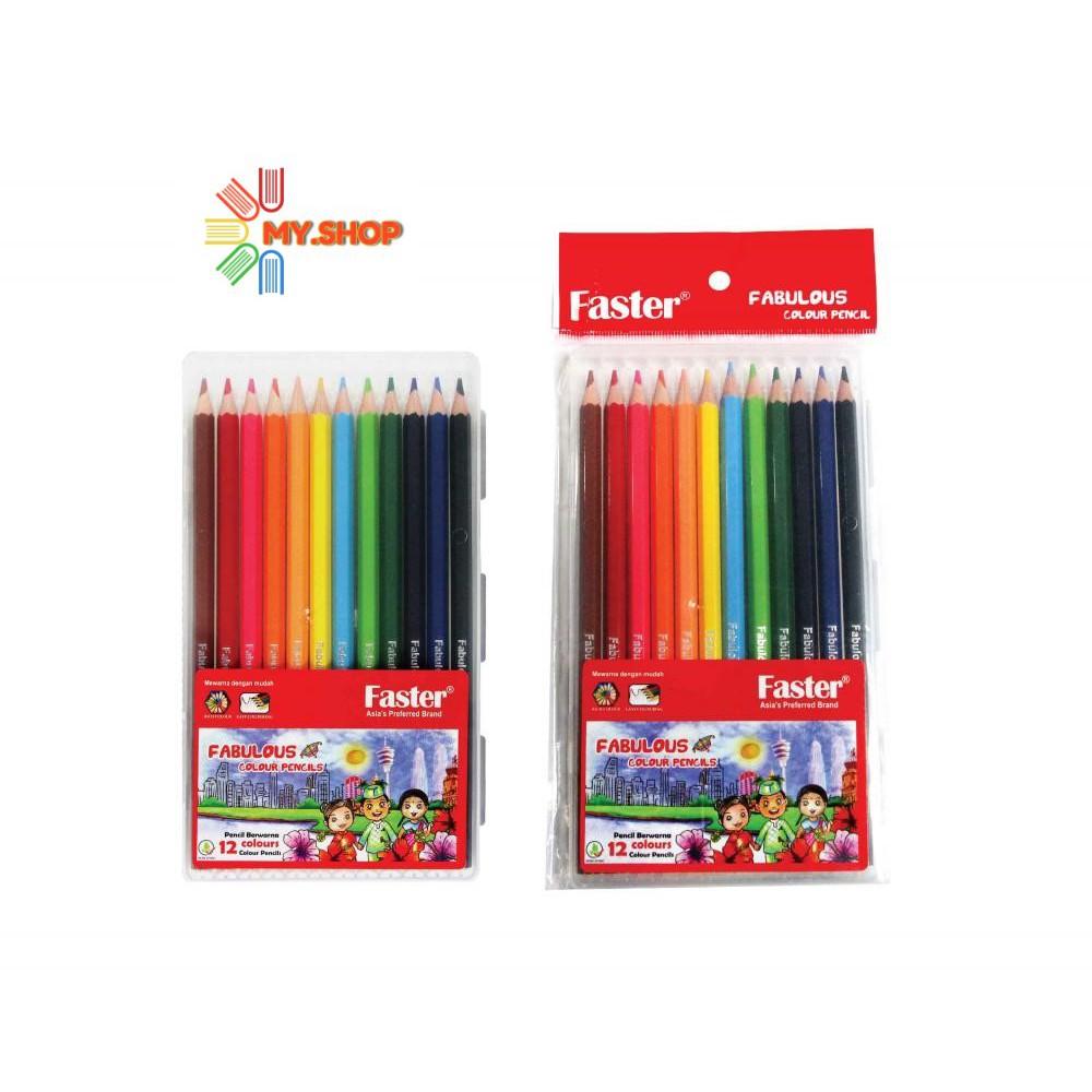 Faster CP-F-712 Fabulous Colour Pencils 3.0mm Lead (12 Colours/Set)