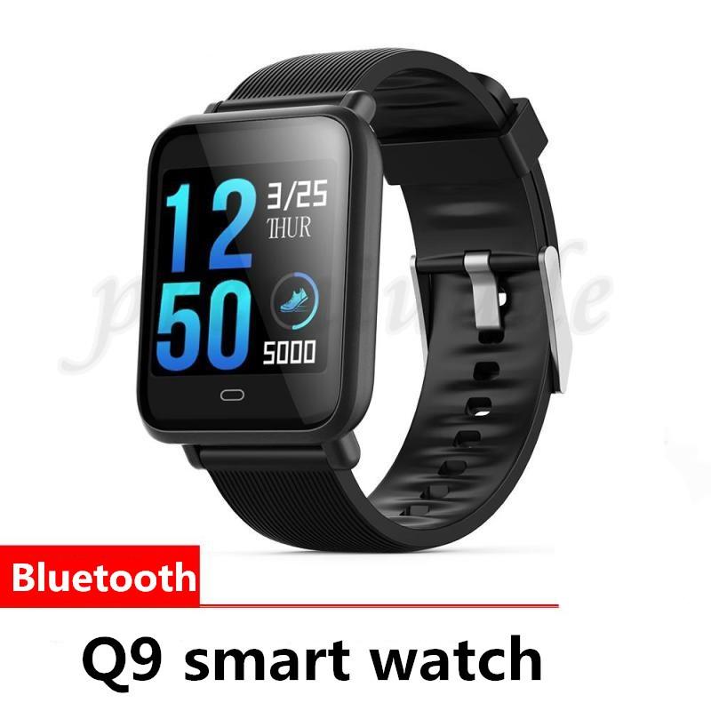 Q9 Smartwatch IP67 Waterproof Bluetooth Pedometer Sleep Heart Rate Monitor  Smart Band Color Screen