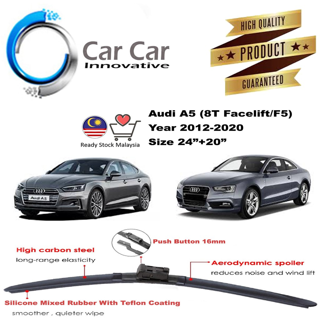 Audi A5 8t Facelift F5 Wiper Wiper Blades Car Windshield Year 2012 2020 1 Pair Size 24 20 Shopee Malaysia
