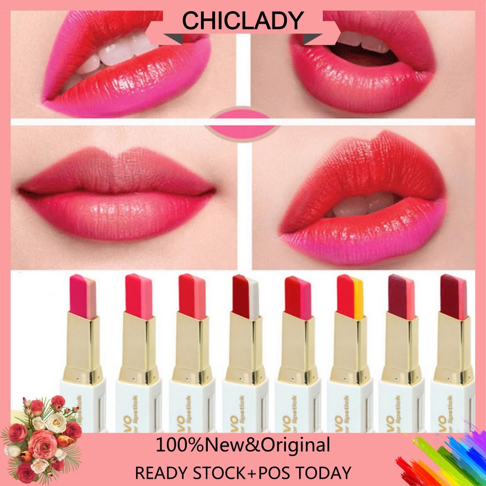 Big Promo2017 Novo Two Color Lipstick Makeup Three Dimensional Kailijumei Ready Stock Shopee Malaysia