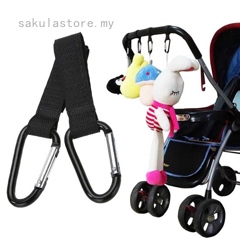 MUMMY CLIP HOOKS FOR PUSHCHAIR STROLLER HANDLE For Shopping Bags