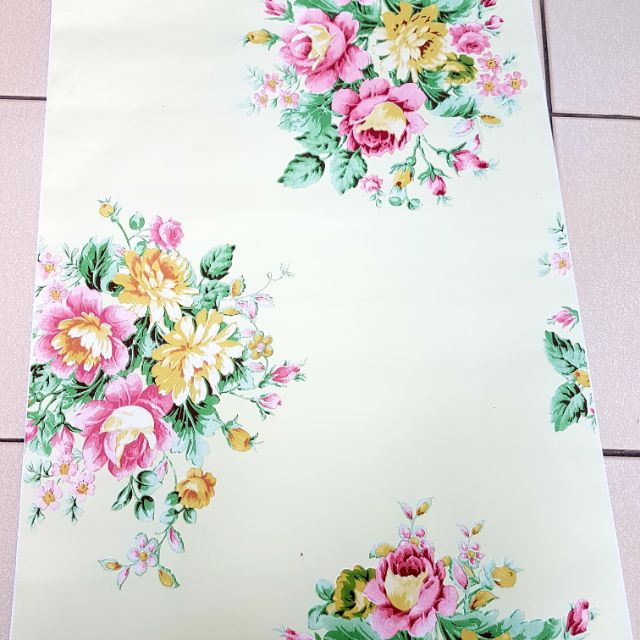 🌸💐 PVC Water Proof Wall Paper Floral 45cm x 10 meter 🌸💐