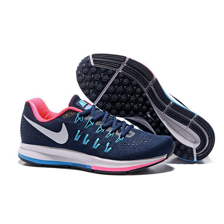 5b672a66f5a xt  Original NIKE AIR ZOOM PEGASUS 33 Running Shoes Men Women DIAMOND BLUE  PINK