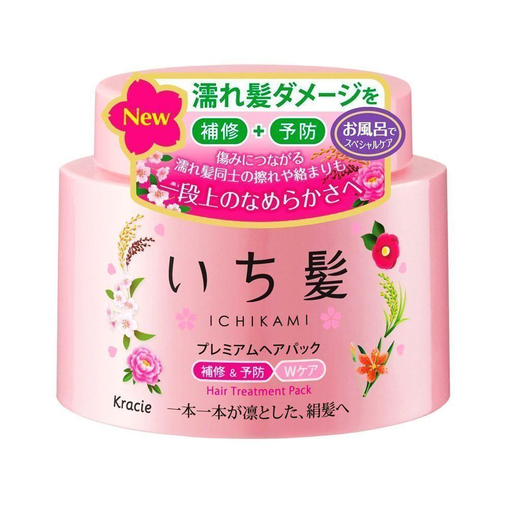 Kracie Ichikami Premium Hair Treatment Pack - Sakura Aroma (180g)