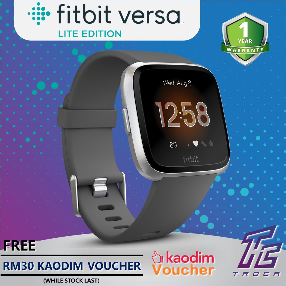 Fitbit Versa Lite Edition Smart Fitness Heart Rate + Activity Tracker +  Smart Watches (2 sizes) - 5 colors available