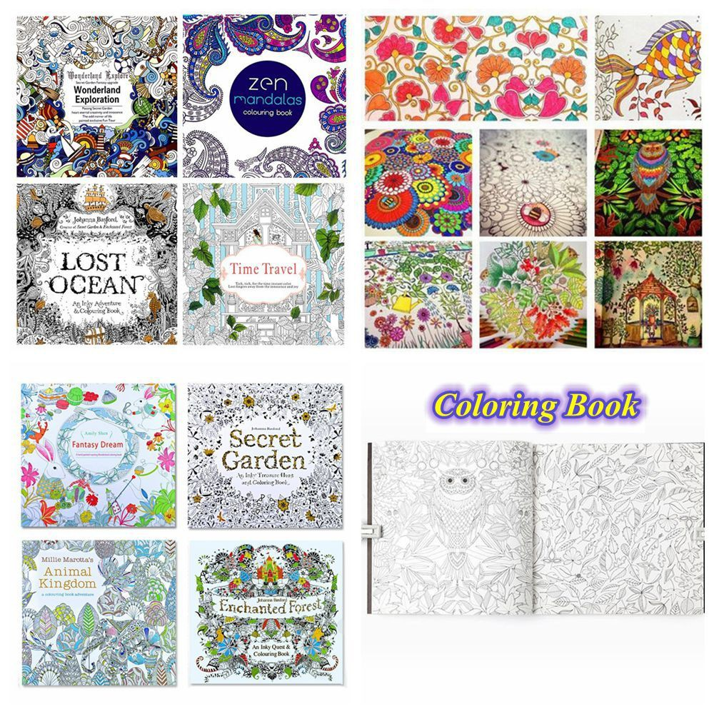 Forest Mixed Styles Relieve Stress English Edition Coloring Book