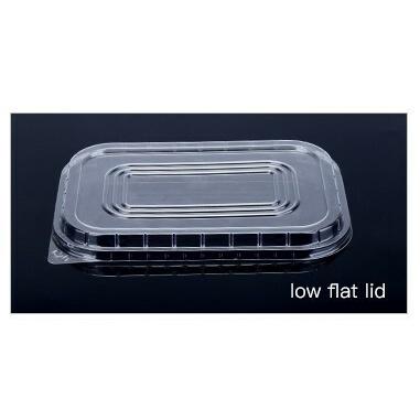 Aluminium Foil Baking Cup Lid - Rectangular, Low Flat Lid for AP750