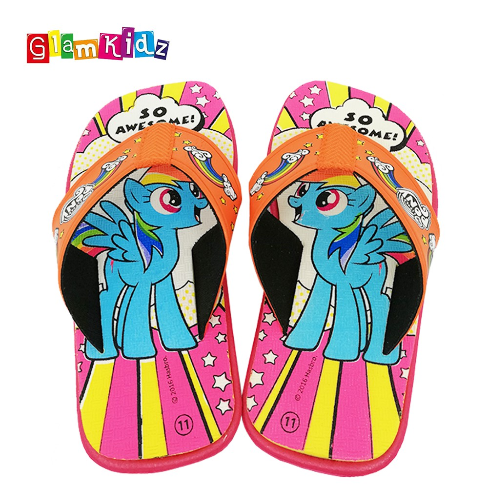 33939216752 My Little Pony Girls Slippers (Orange)  2538