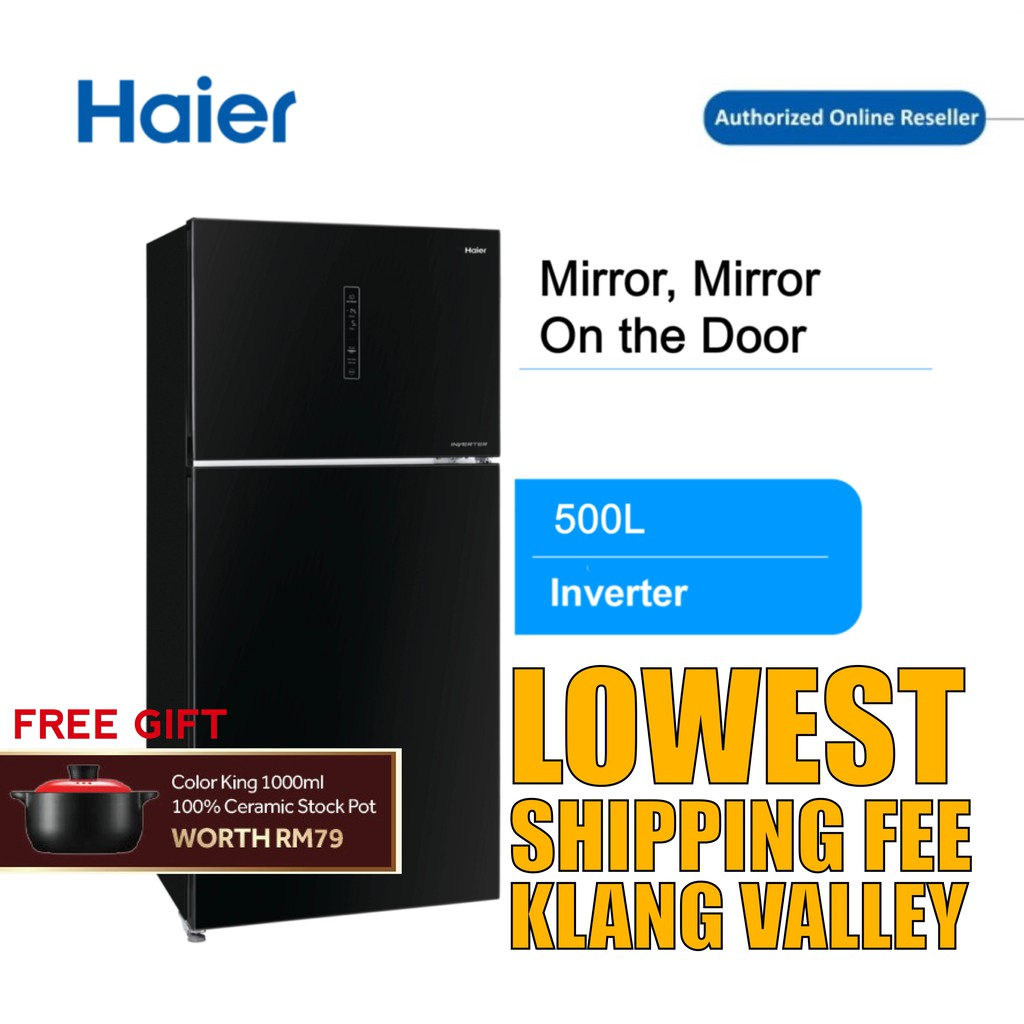 Haier HRF-550IGB 500L 2 Door Glass Refrigerator Fridge
