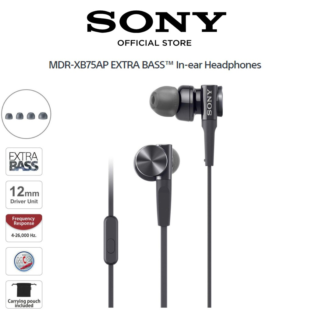 Sony Mdr Ex15ap In Ear Earphone Earbuds Headphones With Microphone