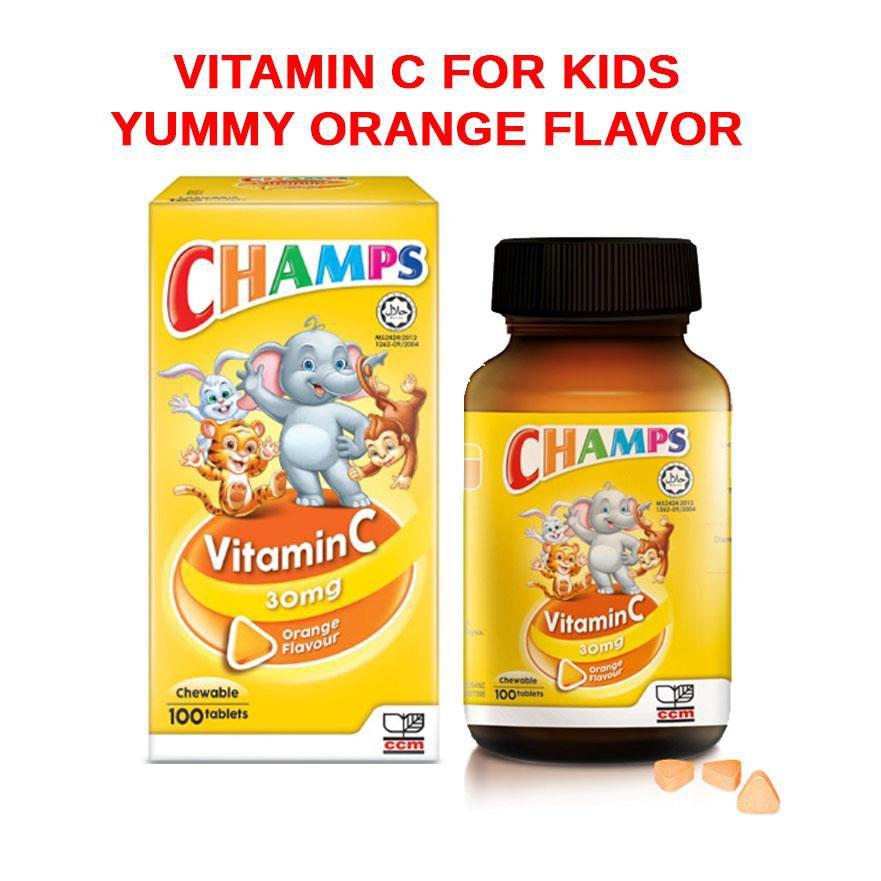 Champs Vitamin C 30mg Chewable Orange Flavor 100s X 2bottles