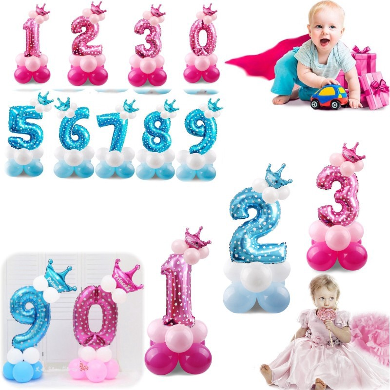 32/'/' /'0-9/' Number Foil Balloons Set Giant Birthday Baby Shower Party Decor Craft