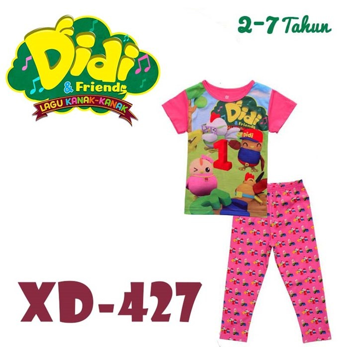 DIDI & FRIENDS PINK Pyjamas for Children age 6 to 7 yrs old