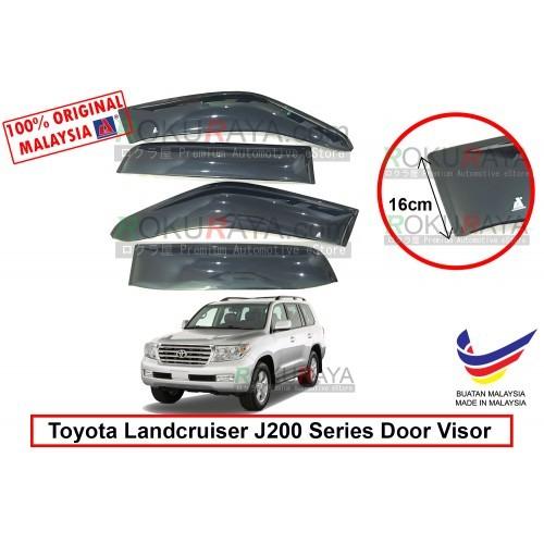 Toyota Landcruiser J200 Series 2008 AG Door Visor (Extra Big 16cm Width)