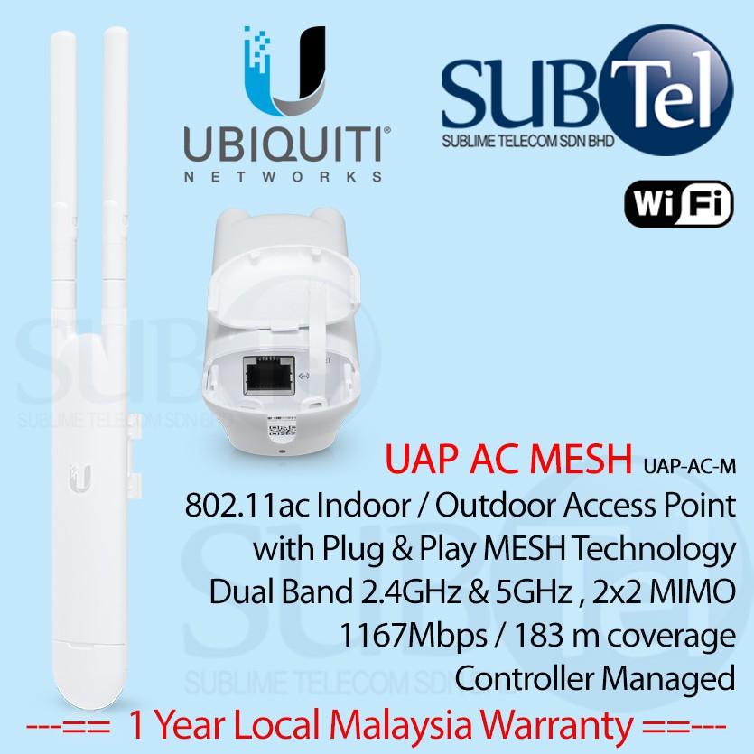 UAP-AC-M Ubiquiti Outdoor WiFi AP AC Mesh Dual Band UAP Enterprise Grade