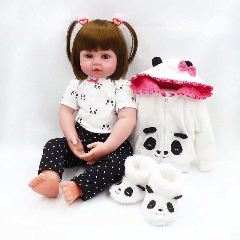 24 inch Toddler Reborn Baby Dolls Handmade Vinyl Silicone Newborn Doll Xmas Gift