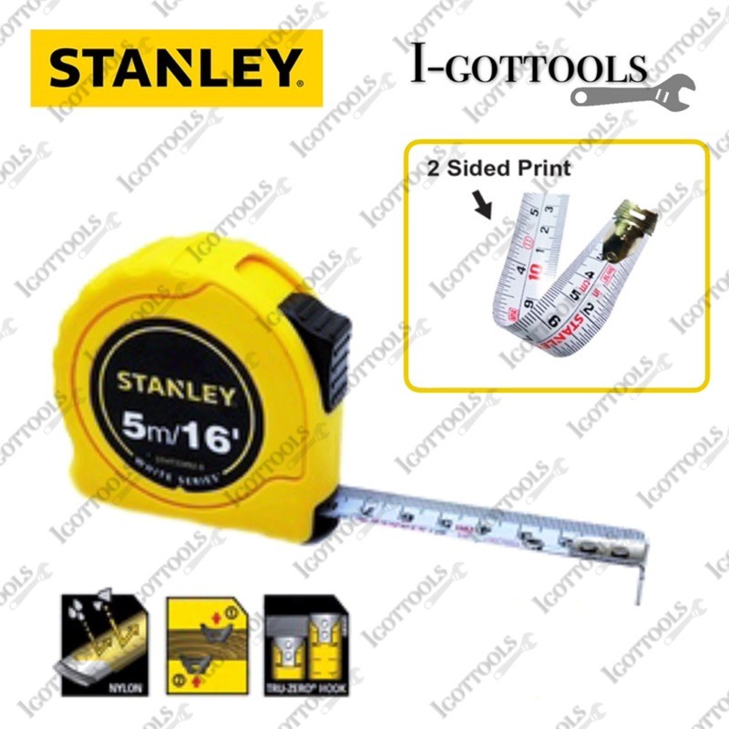 Stanley White Series Measuring Tape STHT33492-8 (5m/ 16ft)