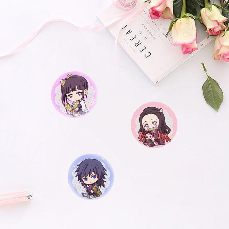 "2.3/"" cosplay Anime Demon Slayer Kimetsu no Yaiba badges Pins Schoolbag 5.8CM"
