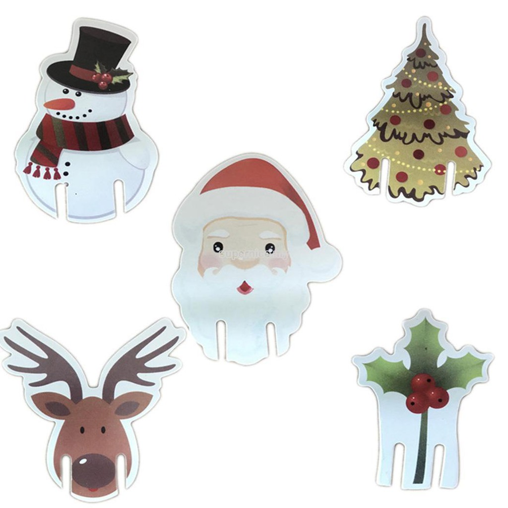 6a06b6aca4fb Hot👑Antlers Christmas Wine Glass Decoration Paper Cards Wine Glass Card  Board