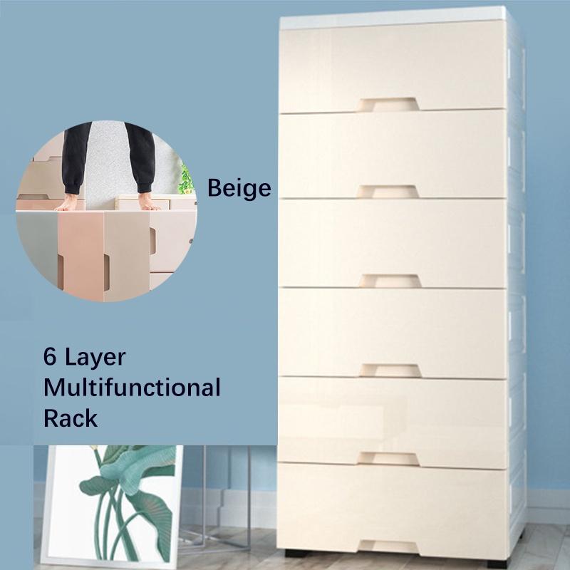GDeal Multifunctional 6 Layer Big Capacity Storage Modern Design Space Saving Cupboard Storage Rack
