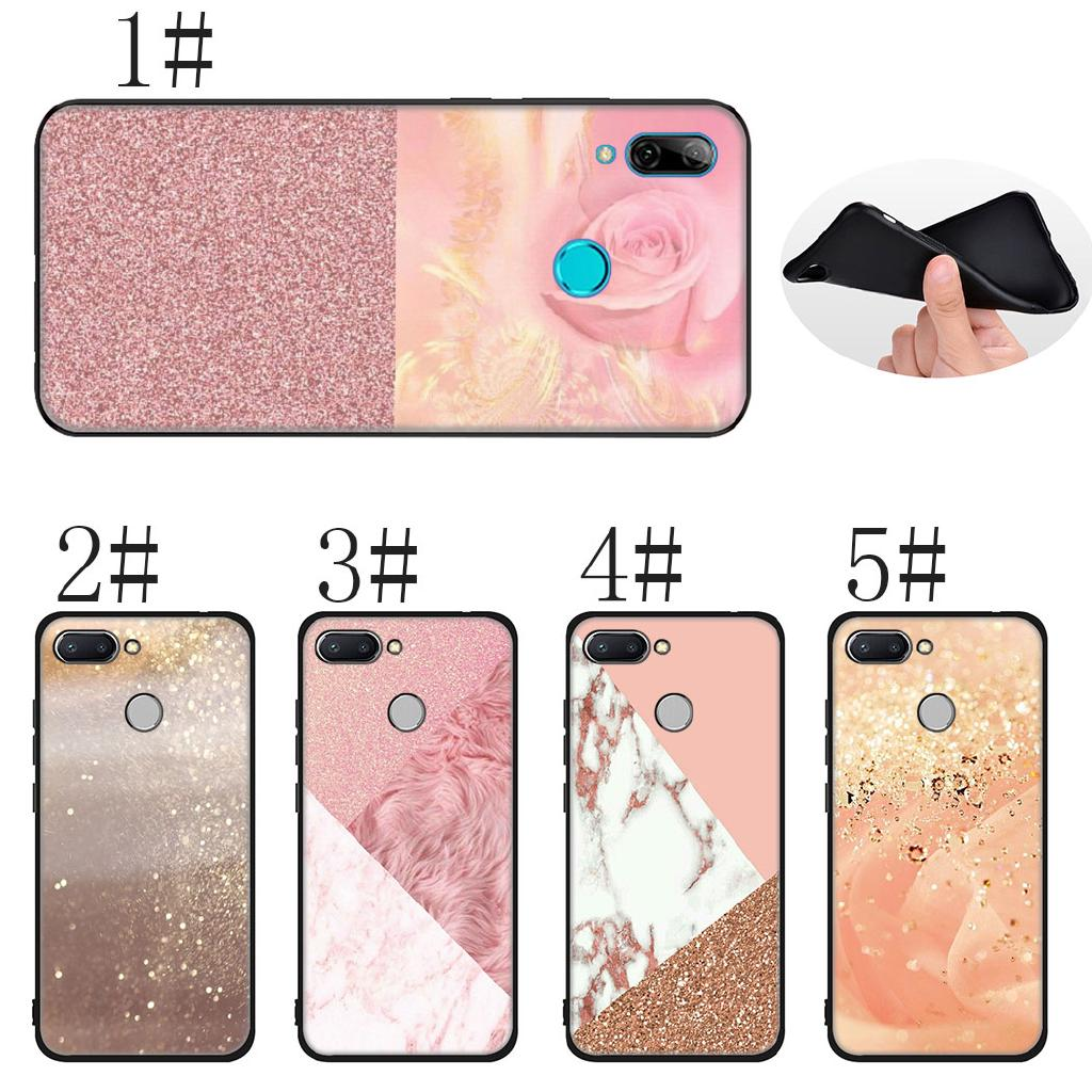 WIWJ Compatible with Xiaomi Redmi Note 7 Case Heavy Duty Shockproof Case Solid Color Glitter Quicksand TPU Silicone Case Clear Phone Cover for Xiaomi Redmi Note 7-Sliver