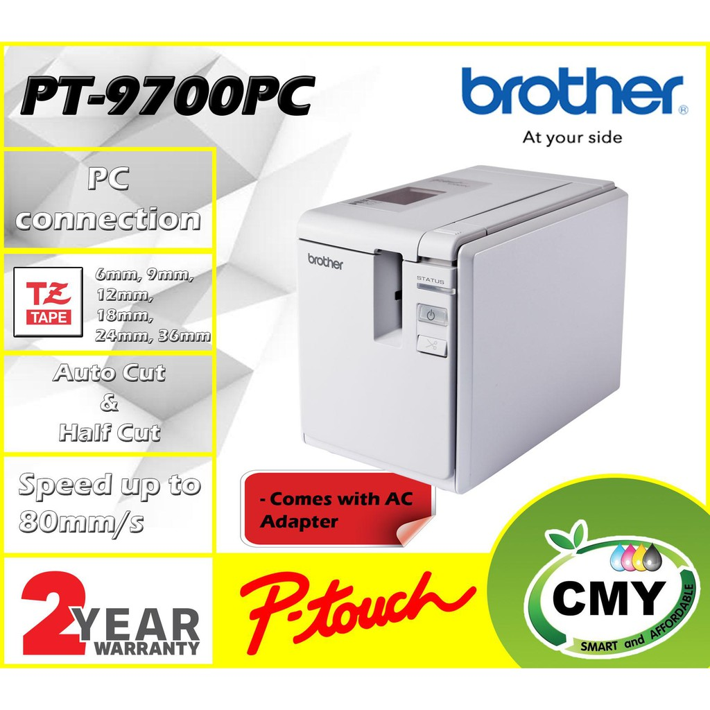 Brother P-touch PT-9700PC Cable Wrap Barcode Label Machine