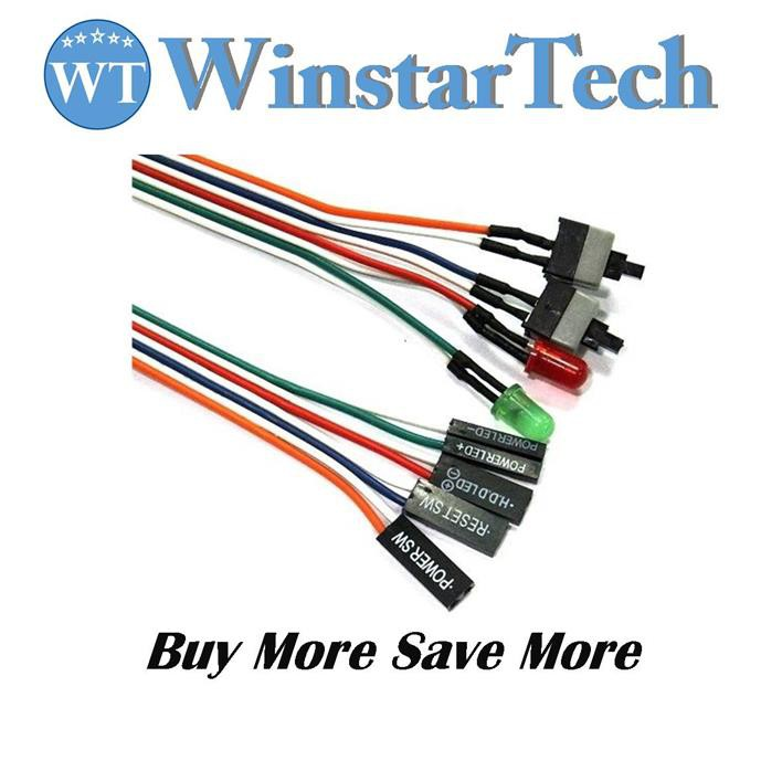 """Dell 51K2C Vostro 430 LED Power Switch Cable 16/"""" 9PIN CN-051K2C"""